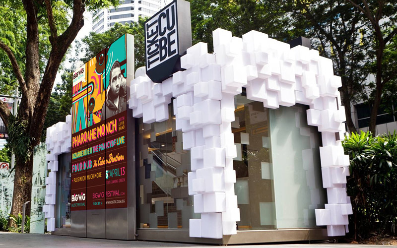 Big Wig Musical Festival Branding Murals & Graphics Singapore Paintshop