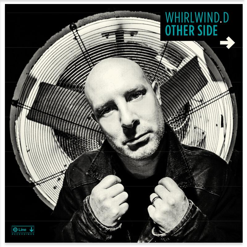 B LINE RECORDINGS ALBUM ARTWORK DESIGN PAINTSHOP WHIRLWIND D