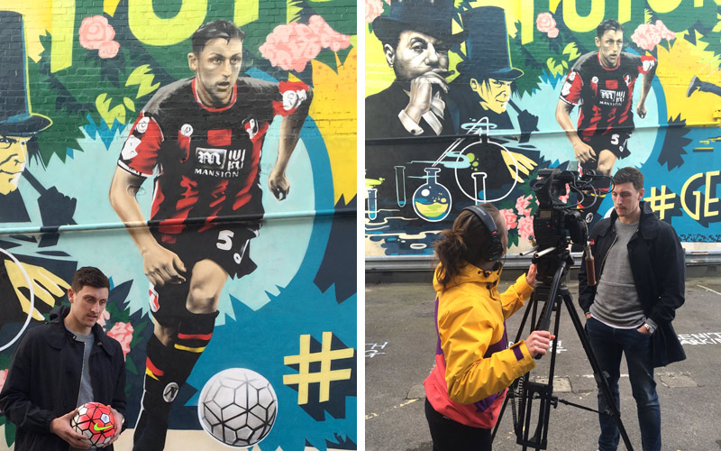 GOV UK - CREATE UK BOURNEMOUTH FOOTBALL OOH ADVERTISING GRAFFITI MURAL BY PAINTSHOP STUDIO