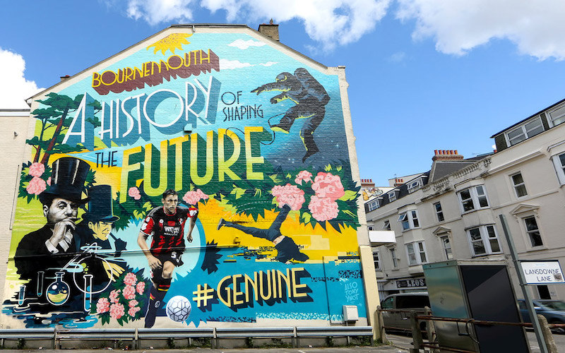 GOV UK - CREATE UK BOURNEMOUTH OOH ADVERTISING GRAFFITI MURAL BY PAINTSHOP STUDIO