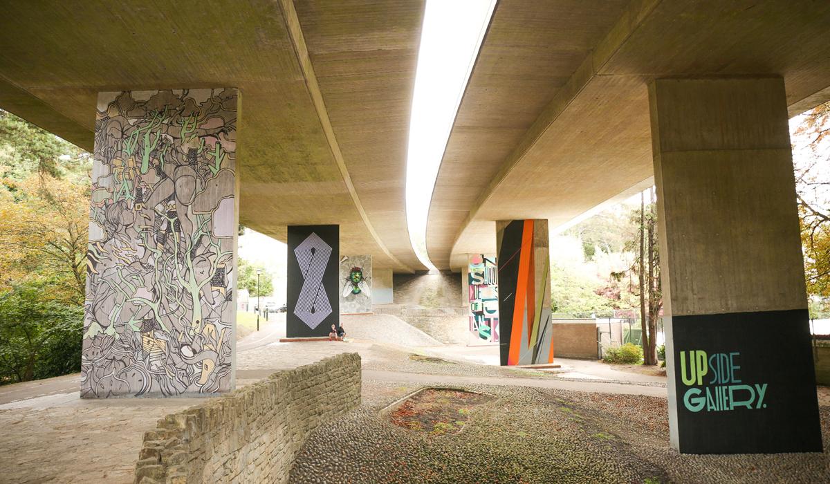 UPSIDE GALLERY outdoor street artist and graffiti artist murals in Bournemouth
