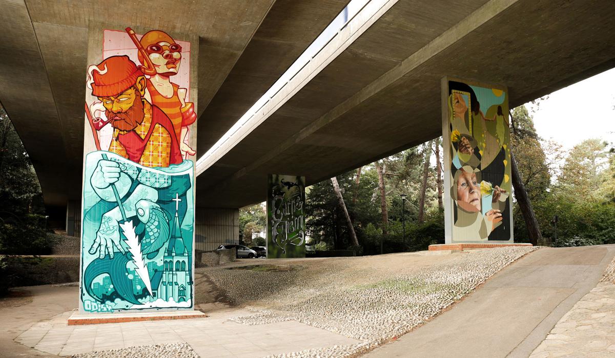 UPSIDE GALLERY street artist and graffiti artist murals in Bournemouth