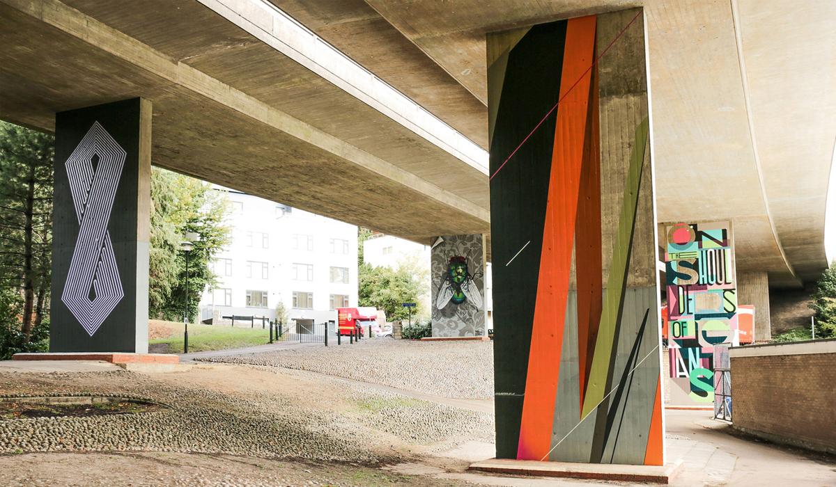 UPSIDE GALLERY street artist and graffiti murals in Bournemouth
