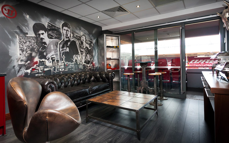 WARRIOR LIVERPOOL FOOTBALL CLUB VIP LOUNGE GRAFFITI MURAL PAINTSHOP
