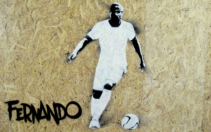 NEW BALANCE FOOTBALL EVENT STREET ART STENCIL GRAPHICS AND MURALS PAINTSHOP