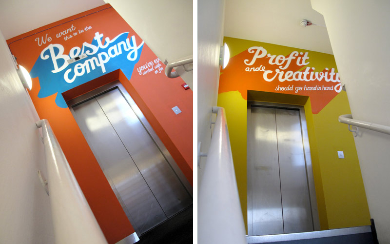 Somethin' Else London Office Interior Signwriting Murals by Paintshop Studio
