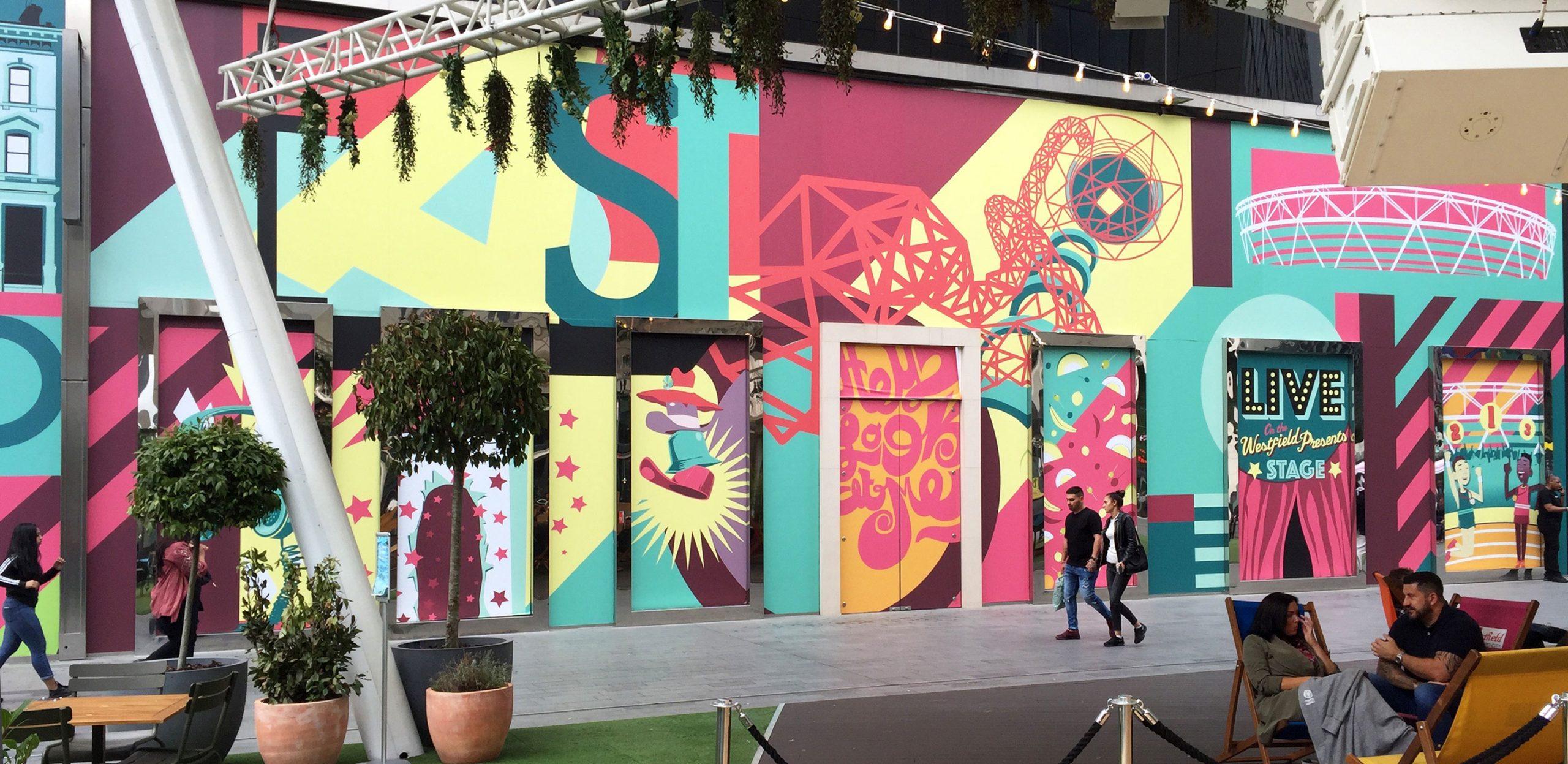 Westfield Stratford City London Vinyl Graphics Design And Graffiti Art By Paintshop Studio