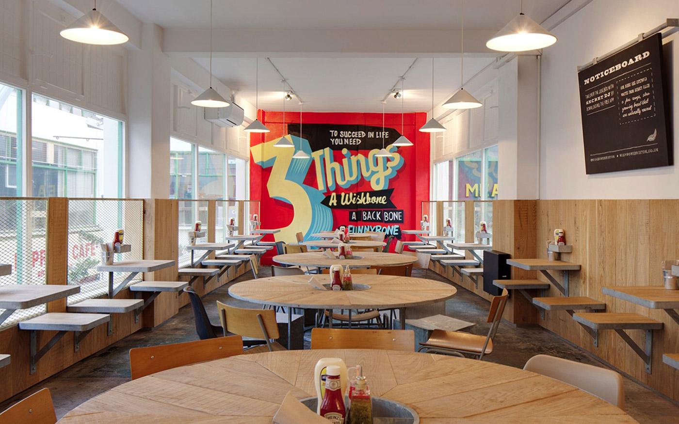 chicken liquor interior mural design paintshop studio