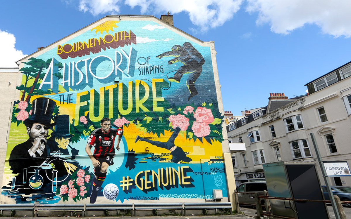GOV UK - CREATE UK BOURNEMOUTH OOH ADVERTISING GRAFFITI MURAL BY PAINTSHOP STUDIO