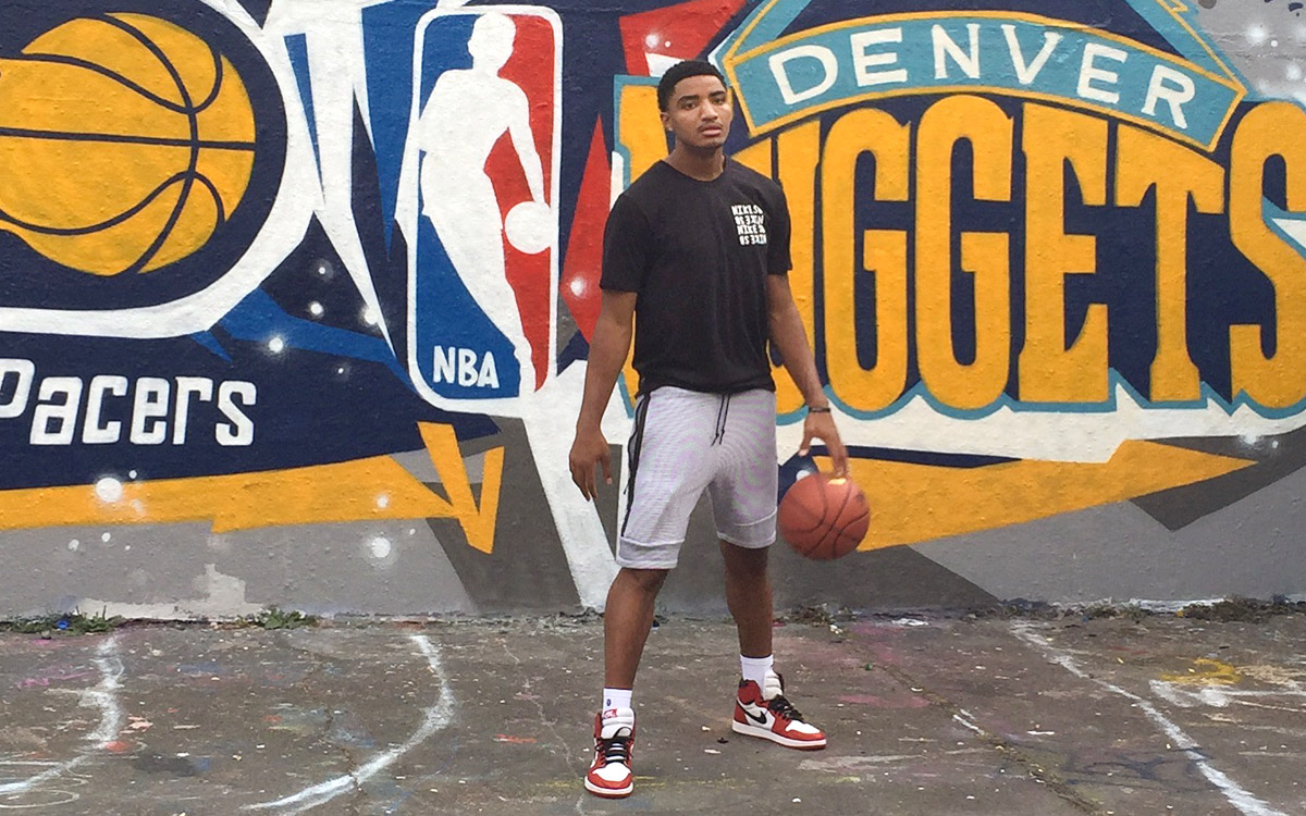 NBA Denver Nuggets & Indiana Pacers Graffiti Mural for London O2 game By Paintshop Studio