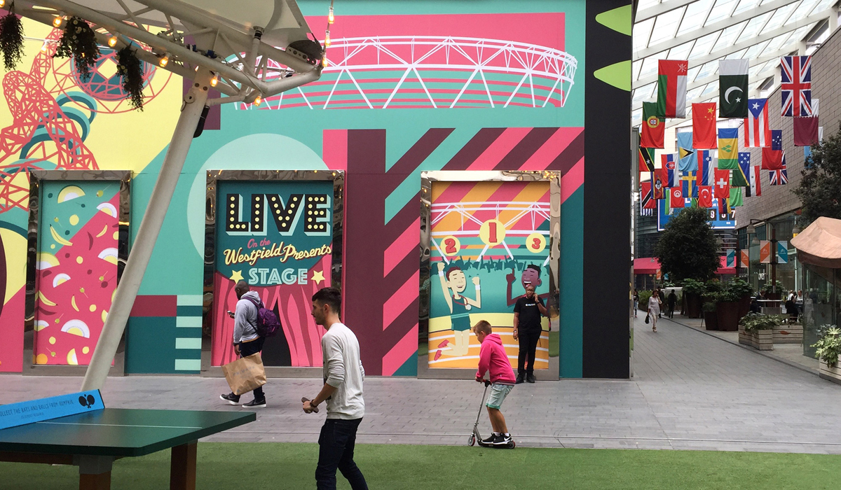 Westfield Stratford City London Vinyl Graphics Design And Graffiti Art By Paintshop Studio