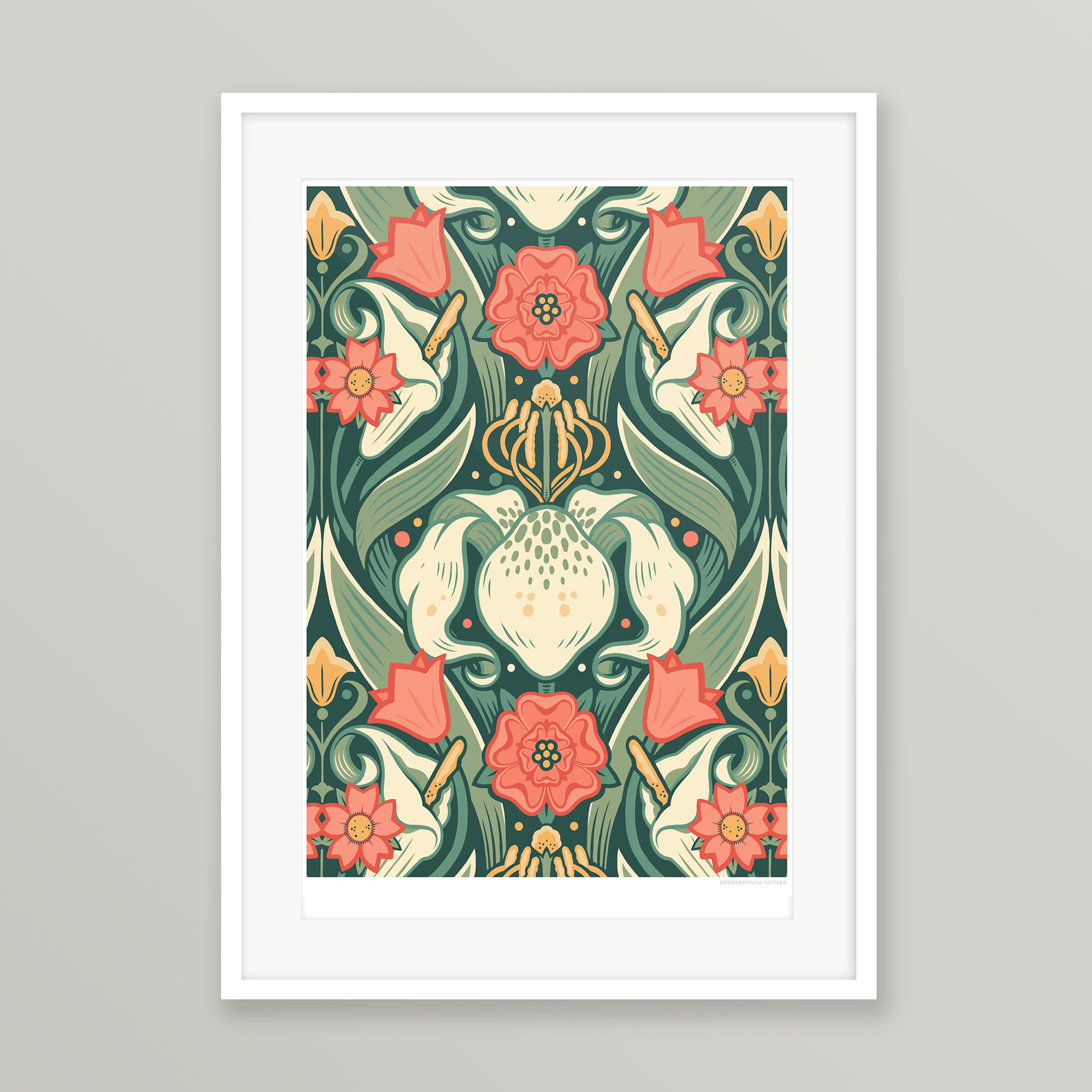 Philth Bournemouth Pattern Giclee Art Print