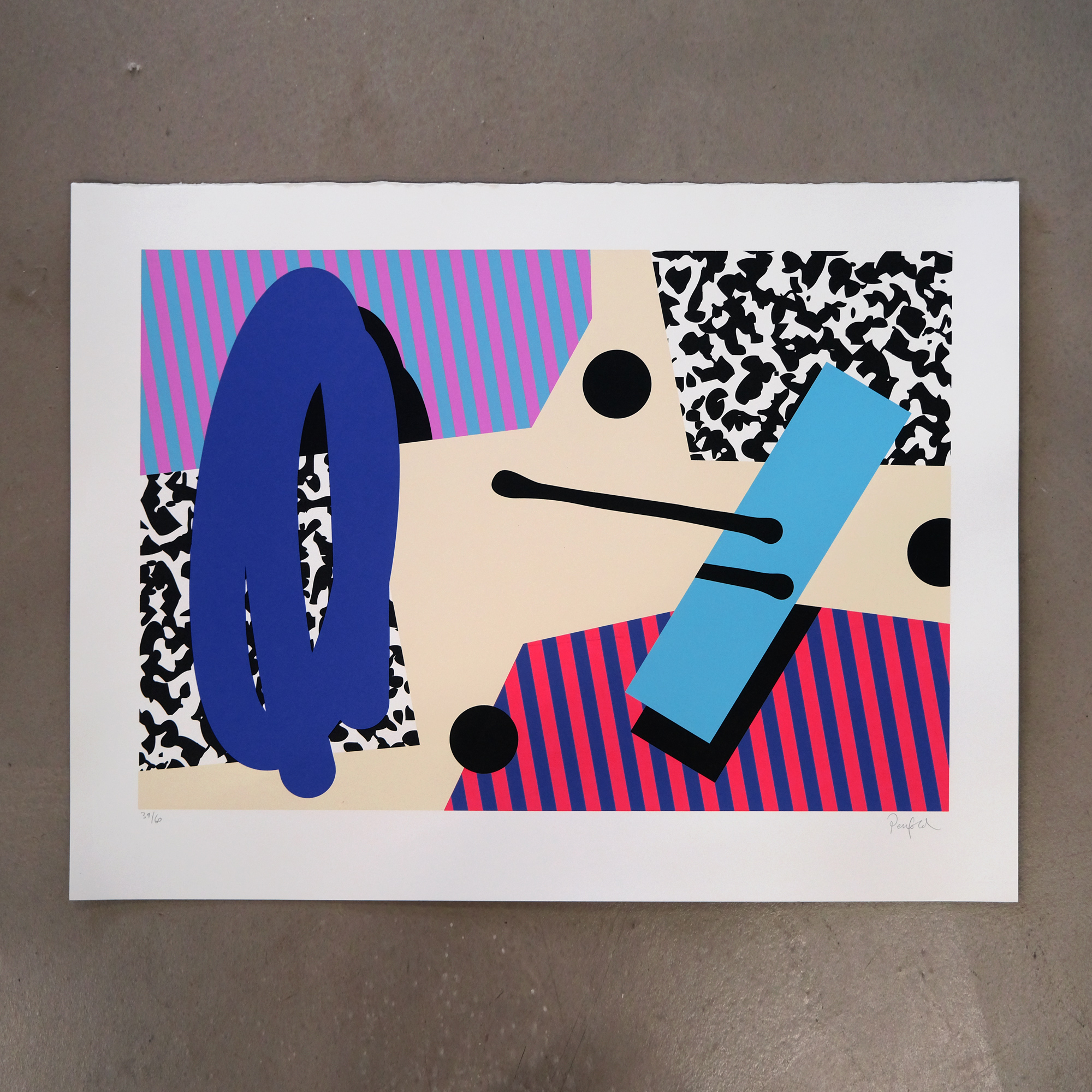 PENFOLD SUSPENDED ELEMENTS SCREEN PRINT